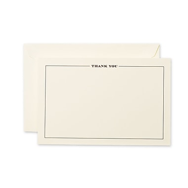 Crane & Co™ Hand Engraved Ecru Thank You Card With Envelope, Kona