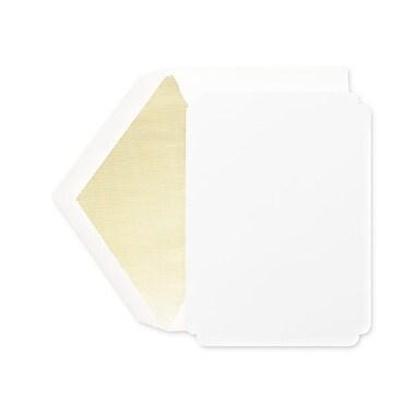 Crane & Co™ Pearl White Die Cut Printable Invitation Card W/Envelope