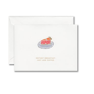 William Arthur Foil Stamped White Note With Envelope, Pie