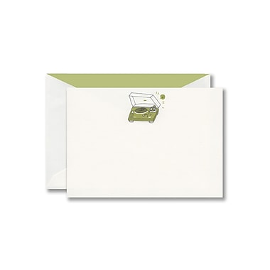 William Arthur Thermographed White Correspondence Card With Envelope, Celery Turntable