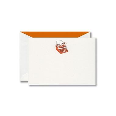 William Arthur Thermographed White Correspondence Card With Envelope, Mandarin Typewriter