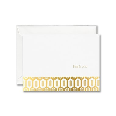 William Arthur White Thank You Note With Envelope, Gold Key