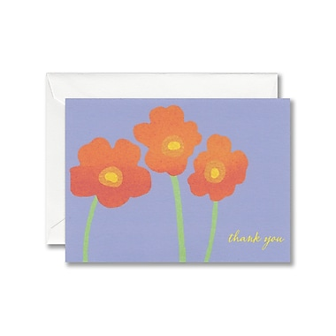 William Arthur White Thank You Note With Envelope, Wildflower