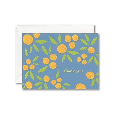 William Arthur White Thank You Note With Envelope, Orange Grove