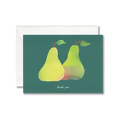 William Arthur White Thank You Note With Envelope, Sweet Pears