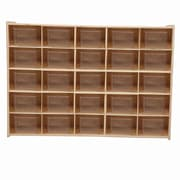 Wood Designs™ Contender™ Fully Assembled 25 Tray Storage With Translucent Trays, Baltic Birch