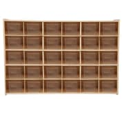 Wood Designs™ Contender™ Fully Assembled 30 Tray Storage With Translucent Trays, Baltic Birch