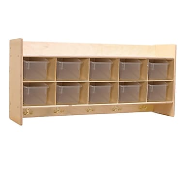 Wood Designs™ Contender™ RTA Wall Locker and Storage With Translucent Trays, Birch