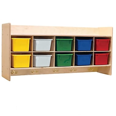 Wood Designs™ Contender™ RTA Wall Locker and Storage With Assorted Trays, Birch