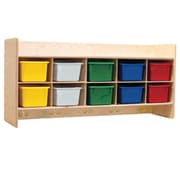 Wood Designs™ Contender™ Assembled Wall Locker and Storage With Assorted Trays, Birch