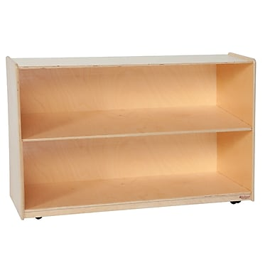 Wood Designs™ Storage Tip-Me-Not™ 30in.H Shelf Storage, Birch