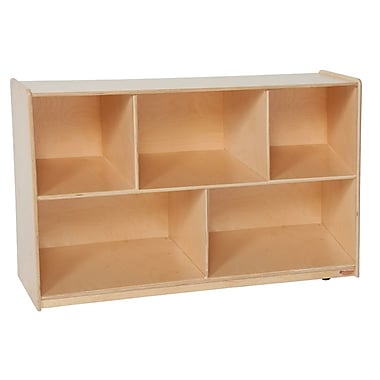 Wood Designs™ Storage Tip-Me-Not™ 30in.H Single Storage, Birch