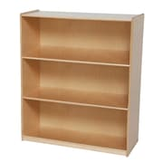 "Wood Designs™ Storage 42""(H) Fully Assembled Plywood X-Deep Bookshelf, Birch"