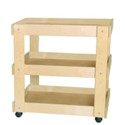 "Wood Designs™ 31""(H) Utility Cart For Classroom, Natural"