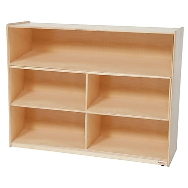 Wood Designs™ Storage 36in.H X-Deep 18in. Versatile Shelf Storage, Birch