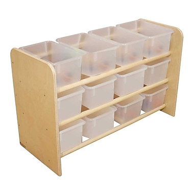 Wood Designs™ See-All Storage With 12 Clear Trays, Birch
