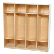"Wood Designs™ 48""W Four-Section Locker, Birch"