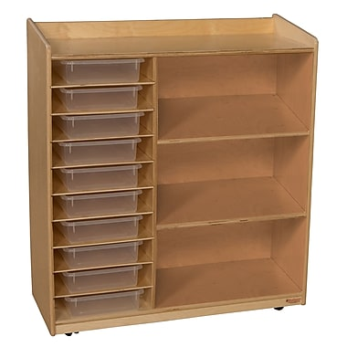 Wood Designs™ Sensorial Discovery Shelving With Translucent Trays, Birch
