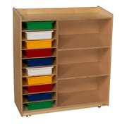 Wood Designs™ Sensorial Discovery Shelving With Assorted Trays, Birch
