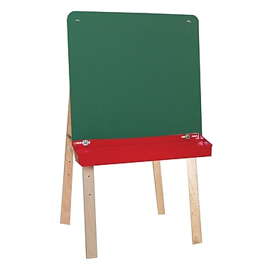 Wood Designs™ Tot Furniture Tot-Size Double Chalkboard Easel, Birch/Green