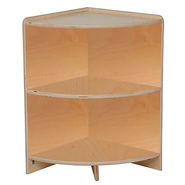 Wood designs 24 h high corner storage shelf birch staples - Storage staples corner ...