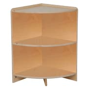 Wood designs 24 h high corner storage shelf birch staples - Staples corner storage ...