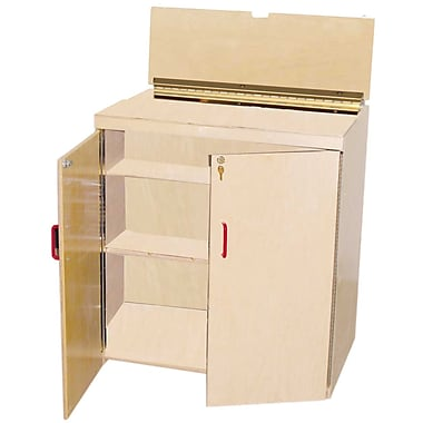 Wood Designs™ Plywood Lock-It-Up Audio Center, Birch