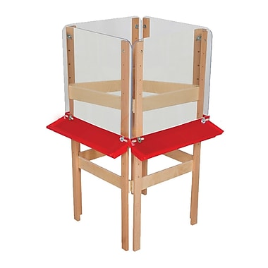 Wood Designs™ Art 4 Sided Easel With Acrylic, Birch