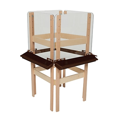 Wood Designs™ Art 4 Sided Easel With Acrylic and Brown Tray, Birch