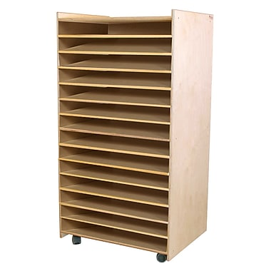 Wood Designs™ Puzzle and Paper Storage Center, Natural