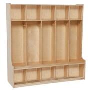 """Wood Designs™ 48""""W Five Section Seat Locker, Birch"""