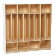 "Wood Designs™ 48""W Eight Section Space-Saver Locker"