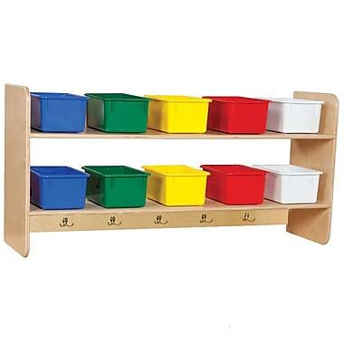 Wood Designs™ Wall Locker With 10 Assorted Trays, Birch