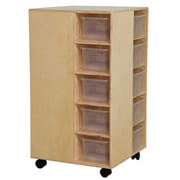Wood Designs™ Cubby Spinner With Translucent Trays, Birch