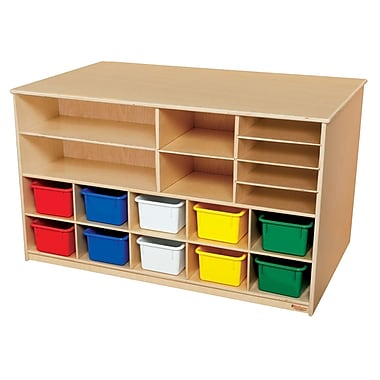 Wood Designs™ Storage Versatile Storage With 10 Assorted Trays, Birch
