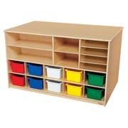 Wood Designs™ Storage Versatile Storage With 10 Assorted Trays, Birch