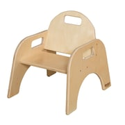 "Wood Designs™ 7""(H) Plywood Woodie Chair, Natural, 2/Pack"