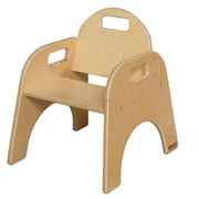 "Wood Designs™ 9""(H) Plywood Woodie Chair, Natural, 2/Pack"