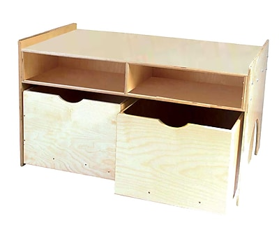 """""""""""Wood Designs 43 3/4"""""""""""""""" x 29 1/2"""""""""""""""" Plywood Store-N-Play Table, Natural"""""""""""" 509197"""
