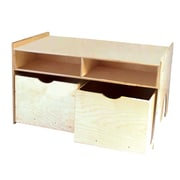 "Wood Designs™ 43 3/4"" x 29 1/2"" Plywood Store-N-Play Table, Natural"