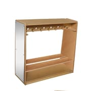 "Wood Designs 41""W Mobile Double-Sided Locker"