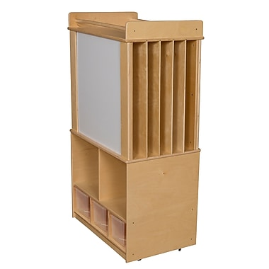Wood Designs™ Store-It-All Teaching Center With 3 Translucent Trays