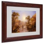 "Trademark Fine Art 11"" x 14"" Acrylic Matted Framed Art Wood Frame"