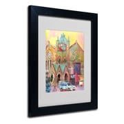 "Trademark Fine Art 14"" x 11"" Matted Framed Art, Black Frame"