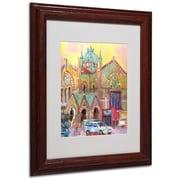 "Trademark Fine Art 14"" x 11"" Matted Framed Art, Wood Frame"