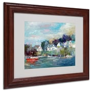 "Trademark Fine Art 11"" x 14"" Acrylic Dock Artwork, Wood Frame"