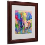 "Trademark Fine Art 14"" x 11"" Acrylic, Canvas & Wood Matted Framed Art, Wood Frame"