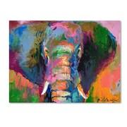 "Trademark Fine Art 18"" x 24"" Wooden Frame Elephant 2"