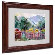 "Trademark Fine Art 11"" x 14"" Acrylic Foothills, Dark Wood"