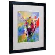 "Trademark Fine Art 20"" x 16"" Acrylic Longhorn, Black Frame"